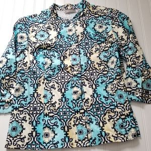Beautiful Chicos Blouse or Light Jacket NWT Size L